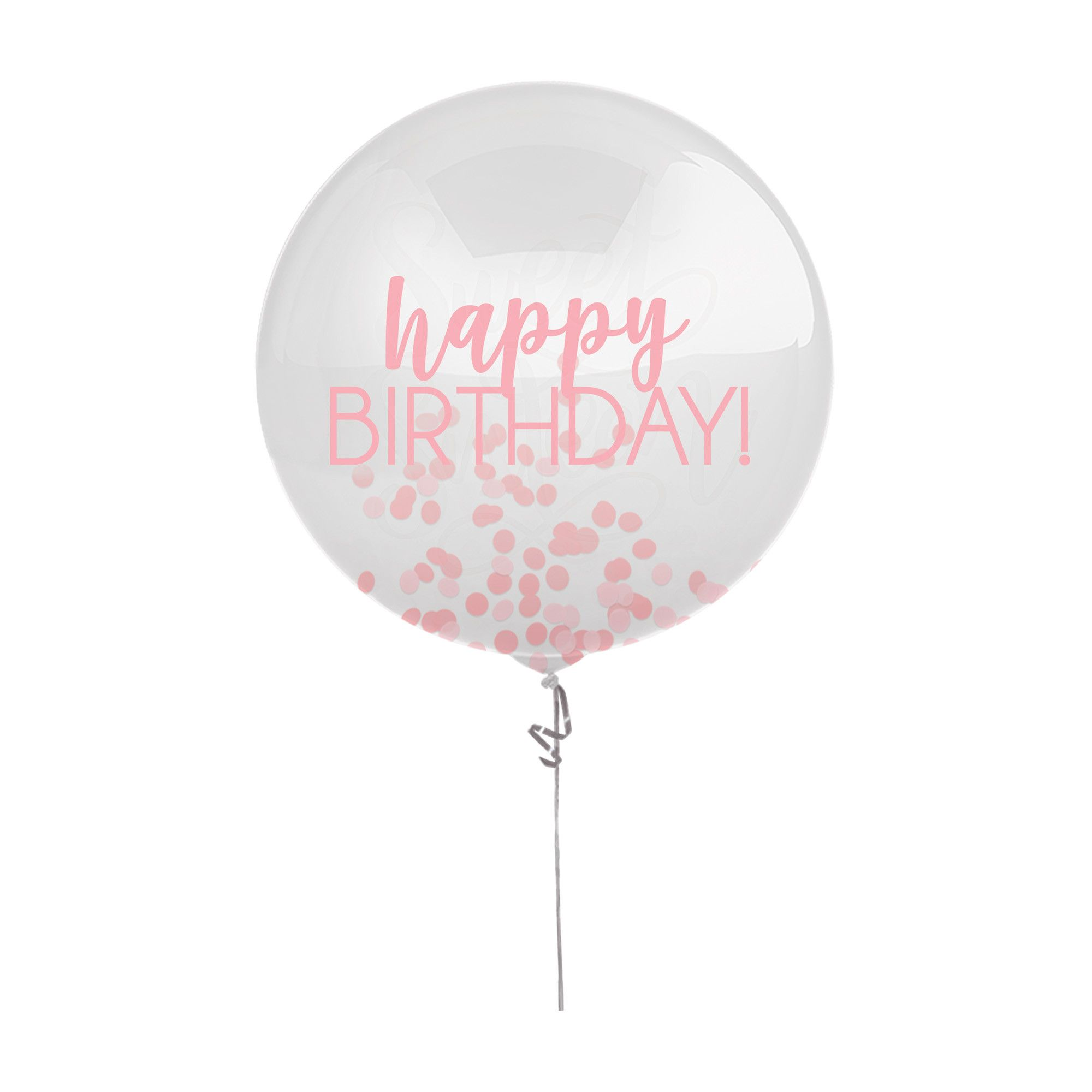Bday Access Pinks Latex Balloon w/Confetti