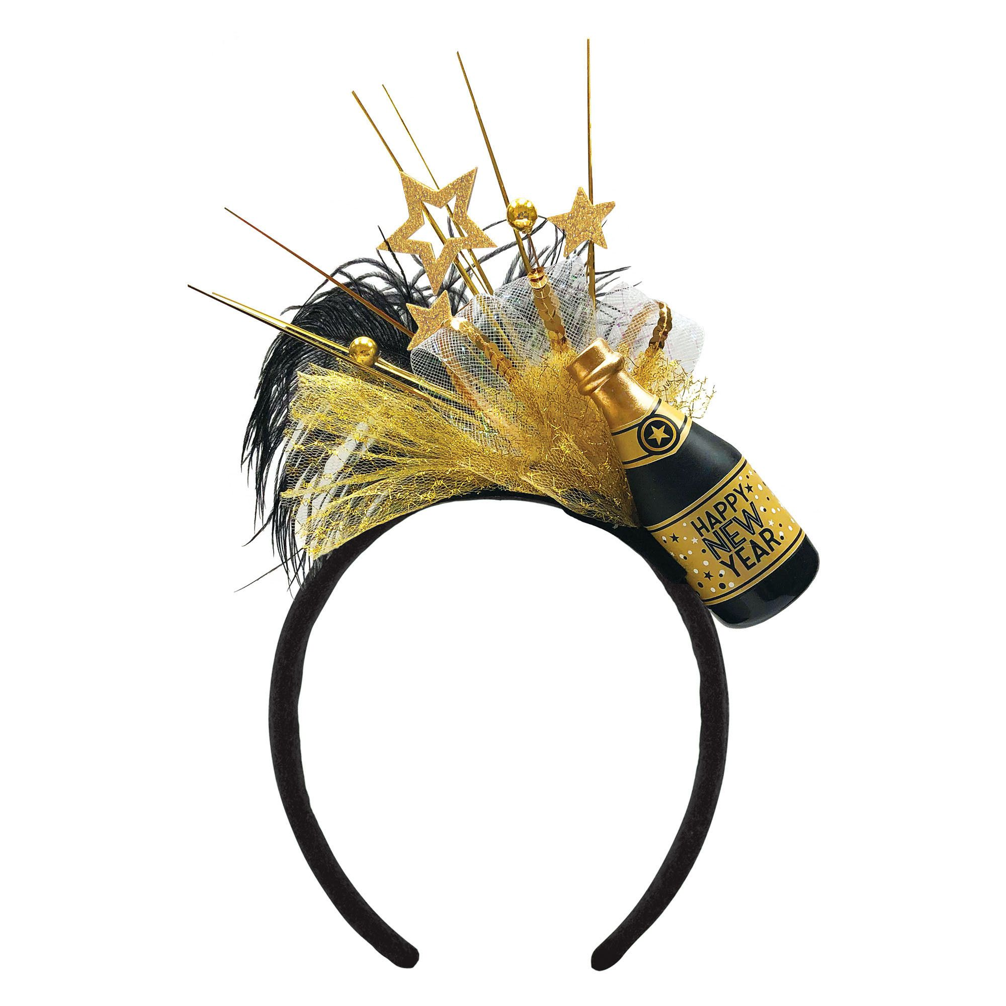 Champagne Bottle Dlx Headband