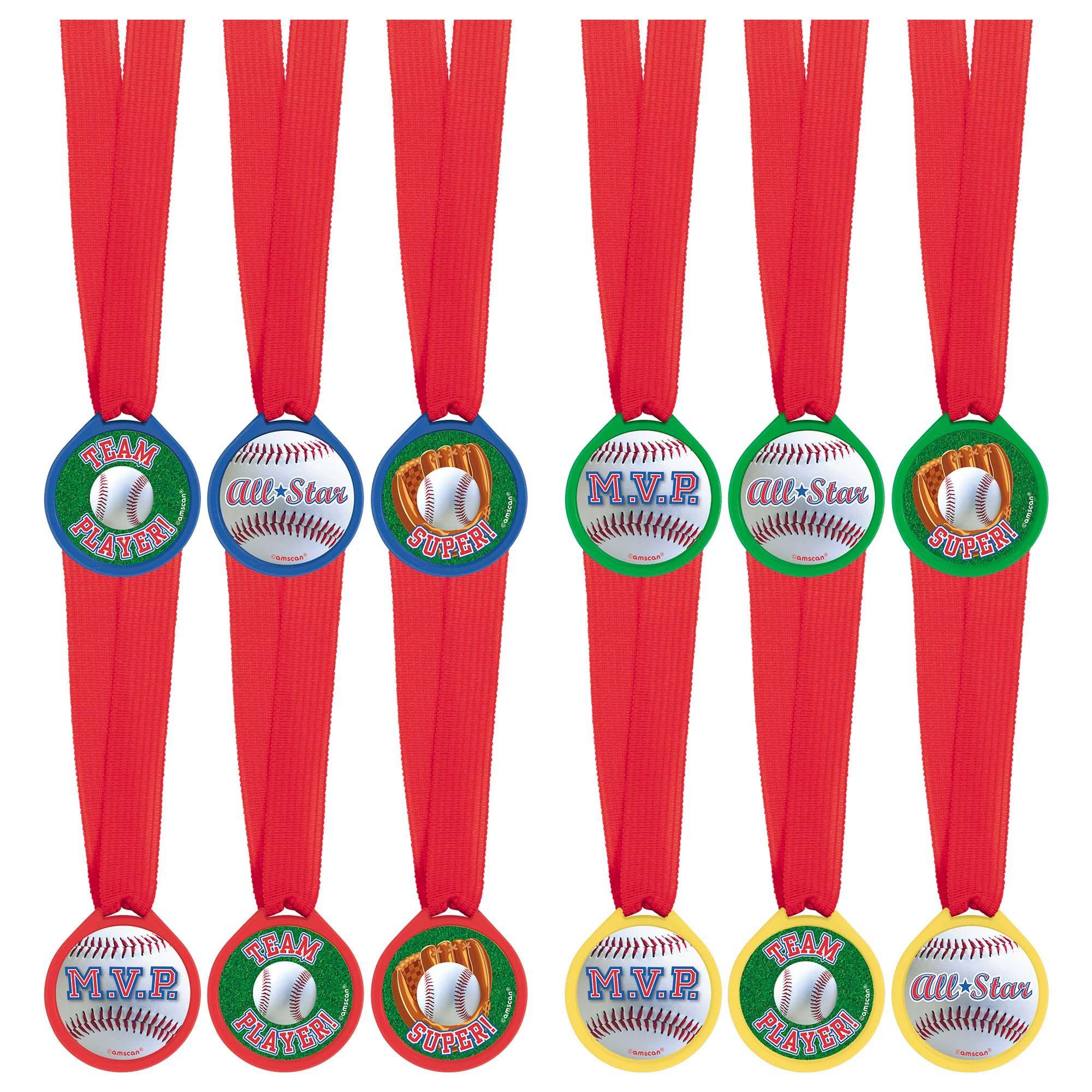 Baseball Award Medals 12ct