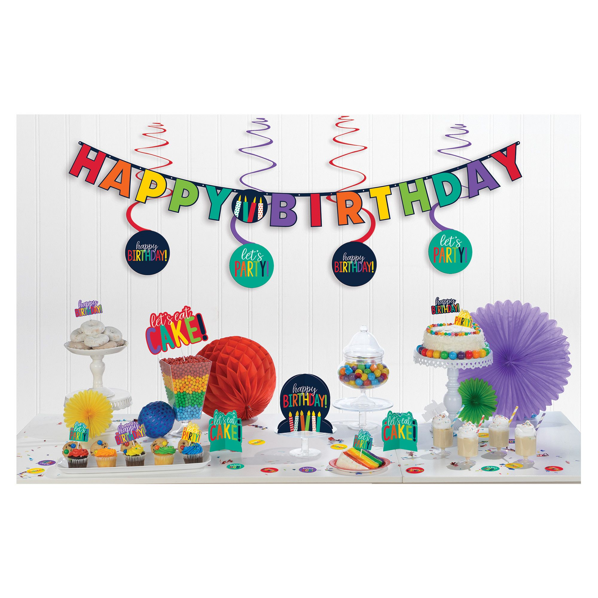 Bday Access Rainbow Mini Deco Kit
