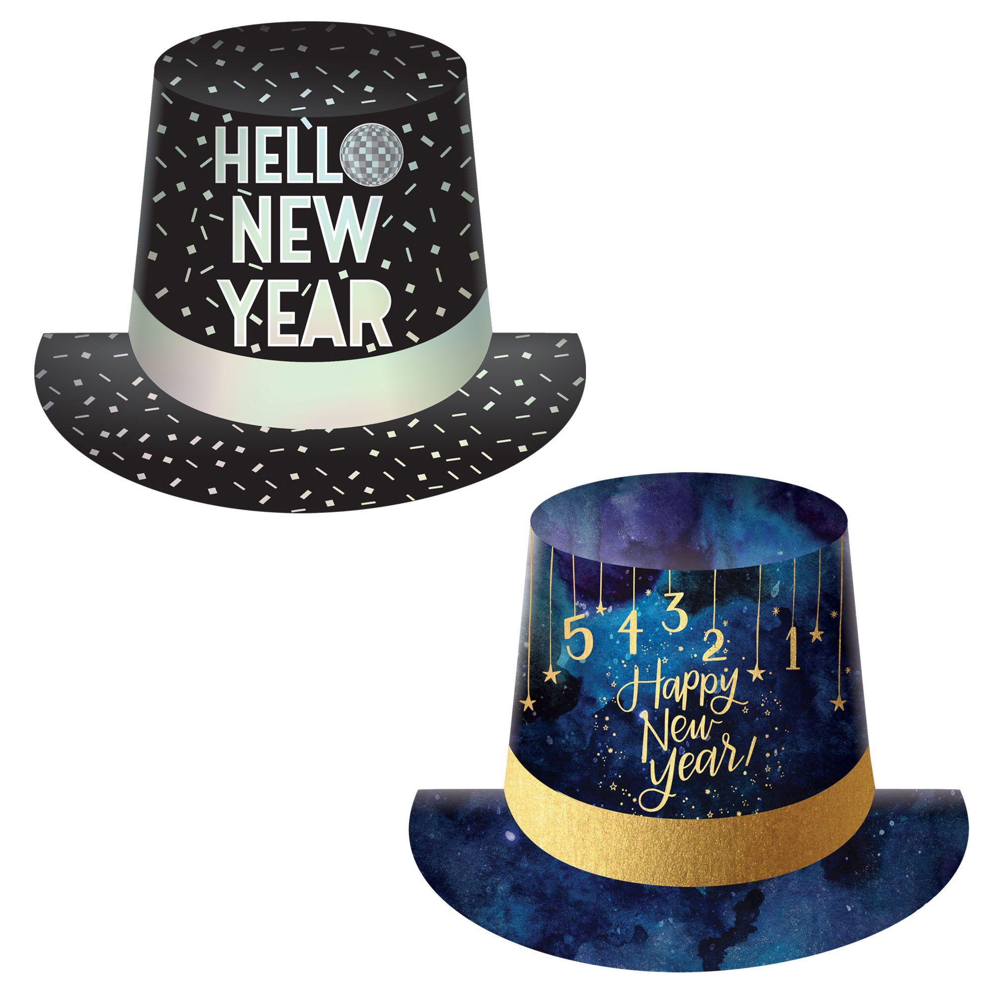 Disco/Midnight Asst Top Hats