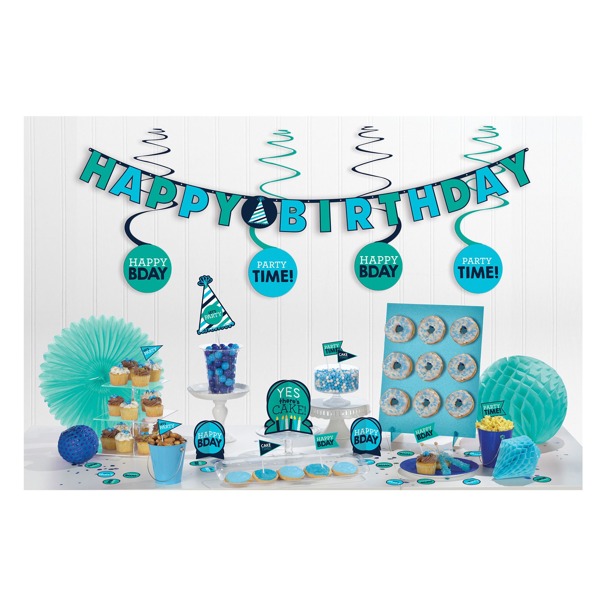 Bday Access Blues Mini Deco Kit