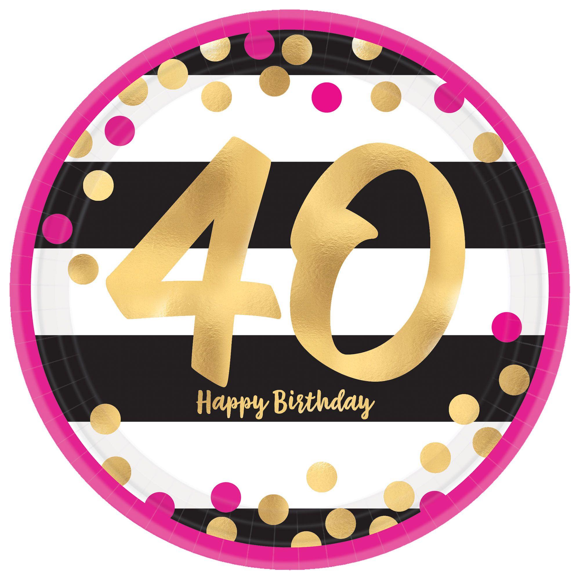 Pink & Gold Milestone 40 7