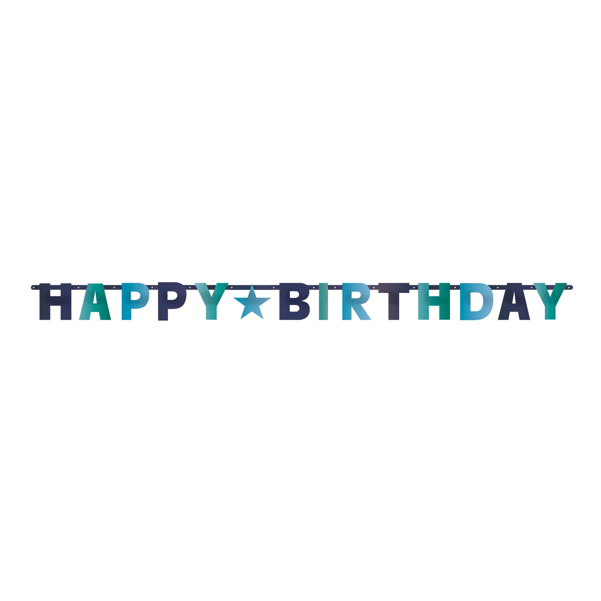Bday Access Blues Letter Banner