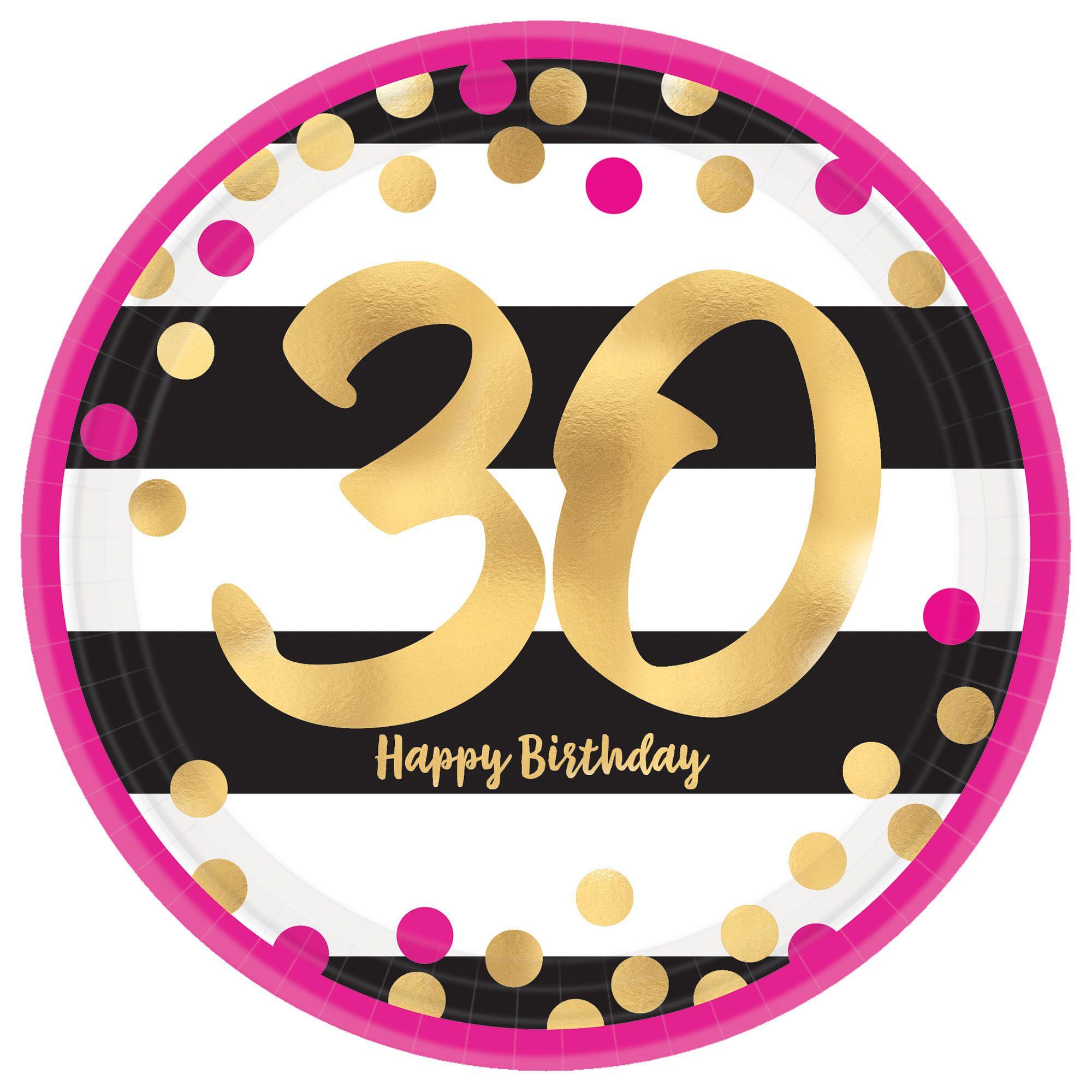 Pink & Gold Milestone 30 7