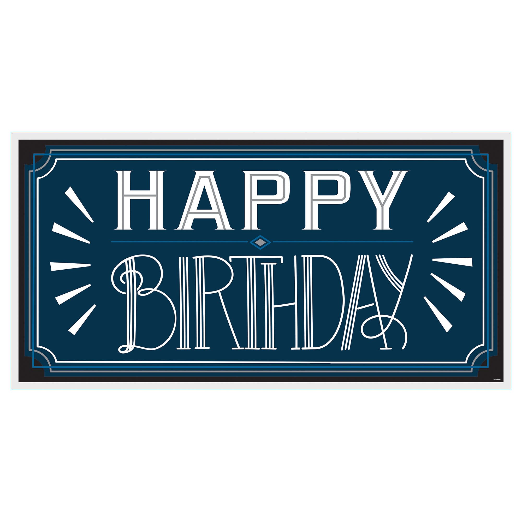 Happy Manly Bday Large Banner