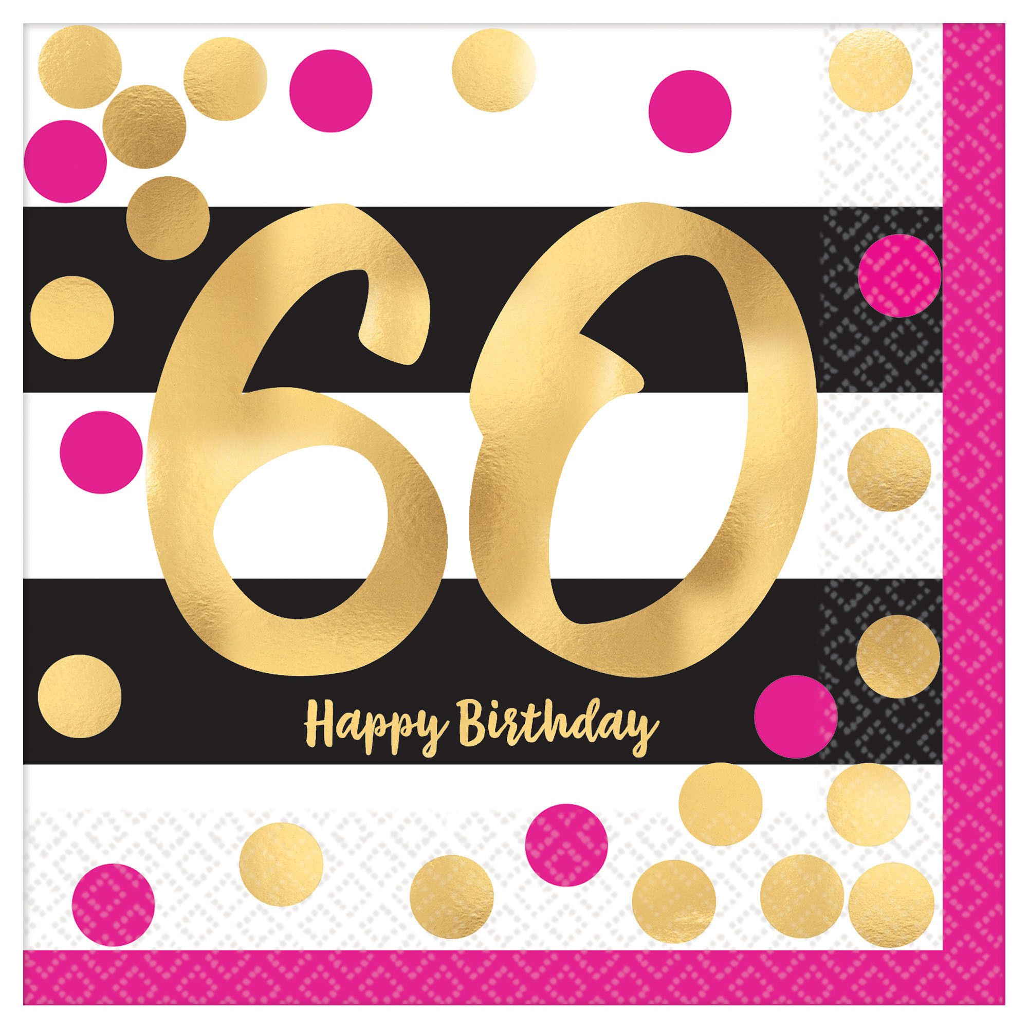 Pink & Gold Milestone 60 BN