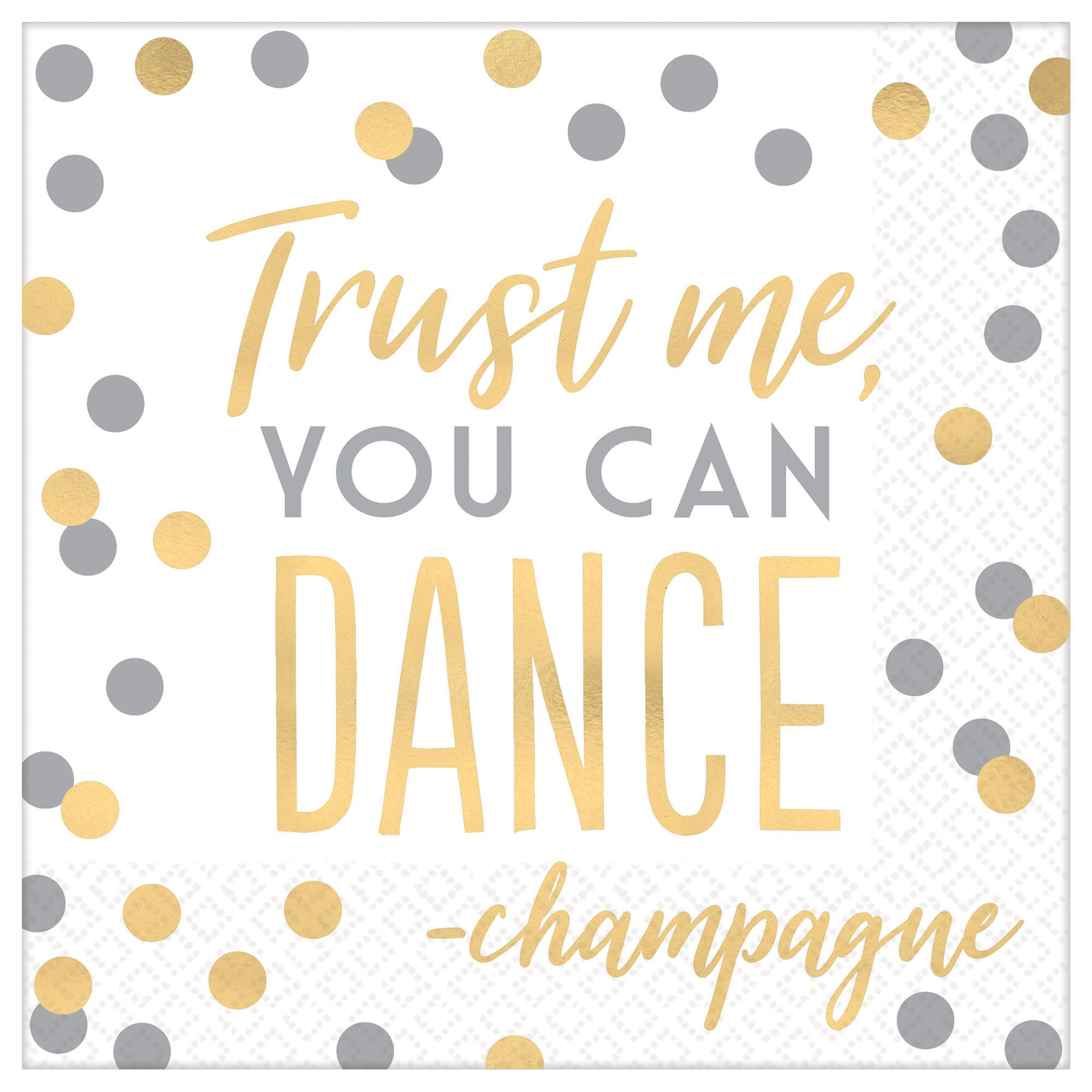 Trust Me, You Can Dance Lunch Napkins, 16 Count