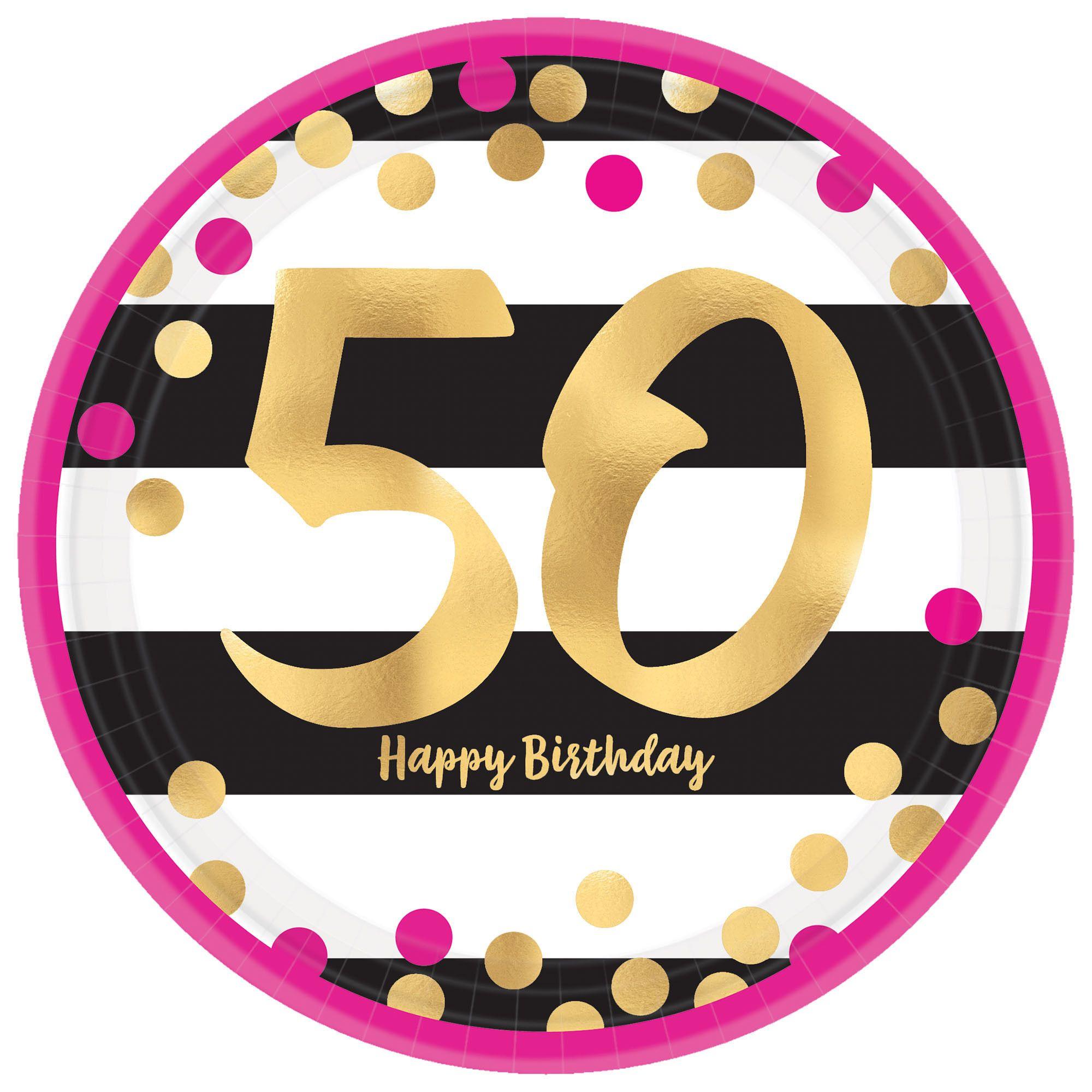 Pink & Gold Milestone 50 7
